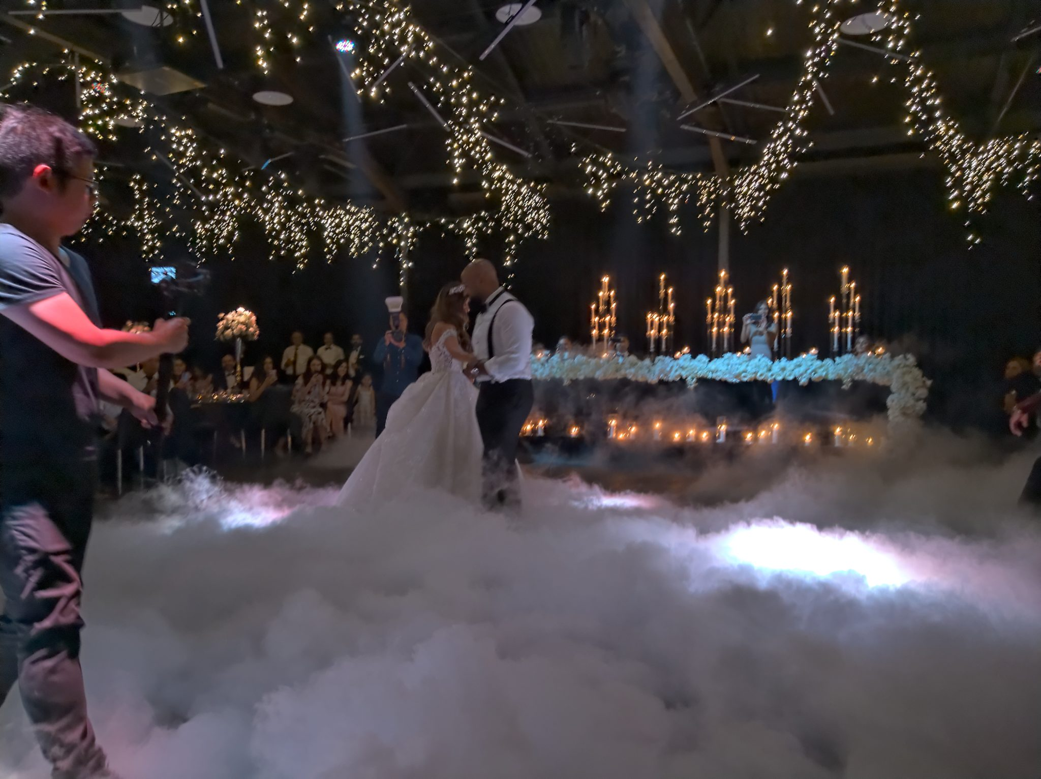 Dry ice effects first dance